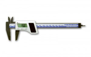 Digital Vernier Caliper Carbon Fiber Body with Solar Panel 150mm