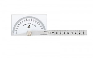 Protractor Hard Chrome Finish No.183 Square 10cm