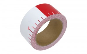 Adhesive Leveling Rod Tape 50mm x 25m 20cm Color Interval