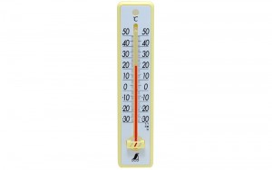 Plastic Thermometer 20cm  Yellow