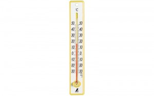 Plastic Thermometer 25cm  Yellow