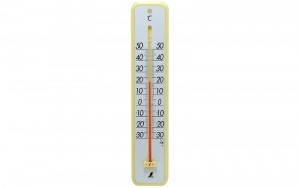 Plastic Thermometer 30cm Yellow