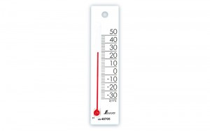"Thermometer ""Petit Thermo Square Vertical 12cm White"