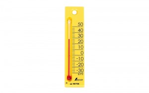 "Thermometer ""Petit Thermo Square Vertical 12cm Yellow"