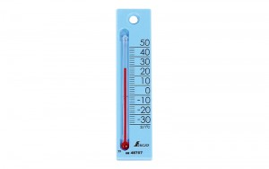 "Thermometer ""Petit Thermo Square Vertical 12cm  Blue"