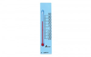 "Thermometer ""Petit Thermo Square Vertical 13.5cm with Magnet Blue"