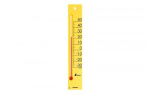 "Thermometer ""Petit Thermo Square Vertical 20cm  Yellow"