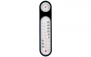 Thermo/Hygrometer Black&White