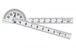 Protractor Hard Chrome Finish Mini φ40 10cm