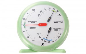 Thermo/Hygrometer and Discomfort Index Meter R-1 Green