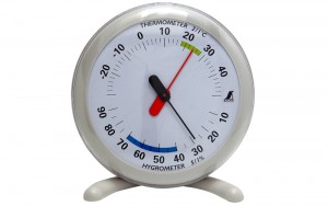 Thermo/Hygrometer Q-1 15cm Gray