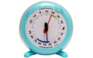 Thermo/Hygrometer Q-2 10cm Blue
