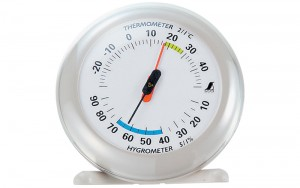 Thermo/Hygrometer Q-2 10cm Gray