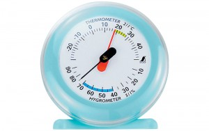 Thermo/Hygrometer Q-3 6.5cm Blue