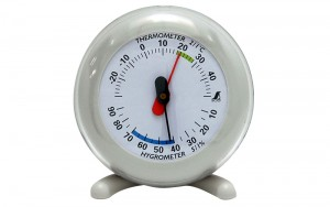 Thermo/Hygrometer Q-3 6.5cm Gray