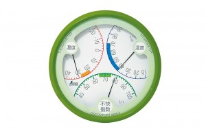 Thermo/Hygrometer and Discomfort Index Meter R-2 Green