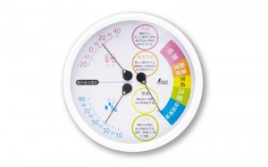 Thermo/Hygrometer for Heatstroke Warning F-3L Ⅱ 15cm White