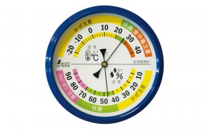 Thermo/Hygrometer for Environmental Safety F-4M 10cm Blue
