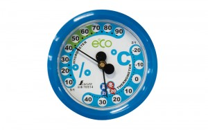 Thermo/Hygrometer for Room Conditioning F-2S 6.5cm Blue