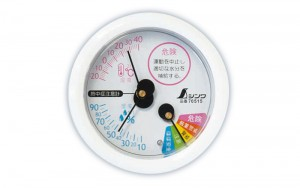 Thermo/Hygrometer for Heatstroke Warning F-3M 10cm White