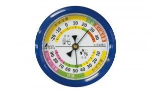 Thermo/Hygrometer for Environmental Safety F-4S 6.5cm Blue