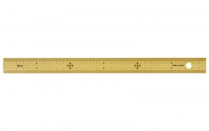 Bamboo Rule 30cm with Hole