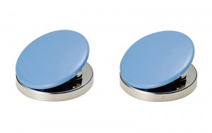 Magnetic Clips Circle A Blue 2pc-pack