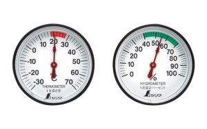 Thermometer and Hygrometer Pair
