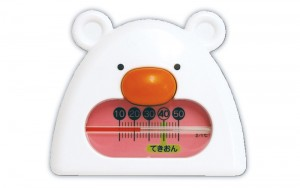 Thermometer for Bath B-9 White&Pink