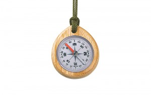 Oil Filled Wood Compass Japanese J