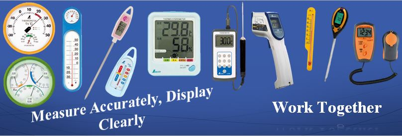 Thermometers/Hygrometers/Environment Measuring Instruments